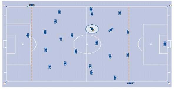 Posizionamento_guardalinee_Portiere che rilancia il pallone